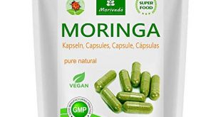 Moringa Kapseln 600mg oder Moringa Energy Tabs 950mg – Oleifera 310x165 - Moringa Kapseln 600mg oder Moringa Energy Tabs 950mg – Oleifera, vegan, Qualitätsprodukt von MoriVeda (120 Caps)
